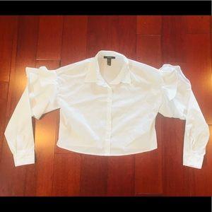 ruffled sleeve blouse